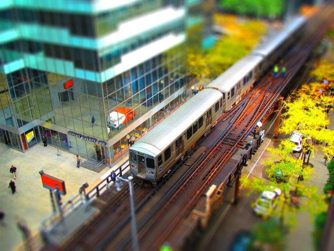 mini chicago transit authority train - Flickr photo by clarkmaxwell